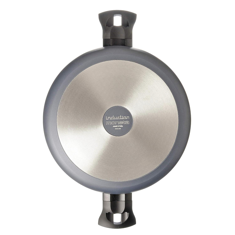 Aluminium 28 cm Moneta 4120228 Po/êle 2 anses 28cm Gris Clair