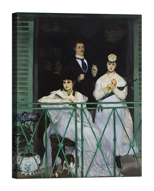 Bild auf Leinwand mit Keilrahmen aus Holz Édouard Manet The Balcony 120x90 CM B07892WTNJ | Feinen Qualität