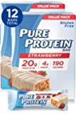 Pure Protein Bars, High Protein, Nutritious Snacks to Support Energy, Low Sugar, Gluten Free, Strawberry Greek Yogurt, 1…