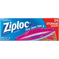 Ziploc Storage Bags with New Grip 'n Seal Technology, For Food, Sandwich, Organization and More, Smart Zipper Plus Seal…