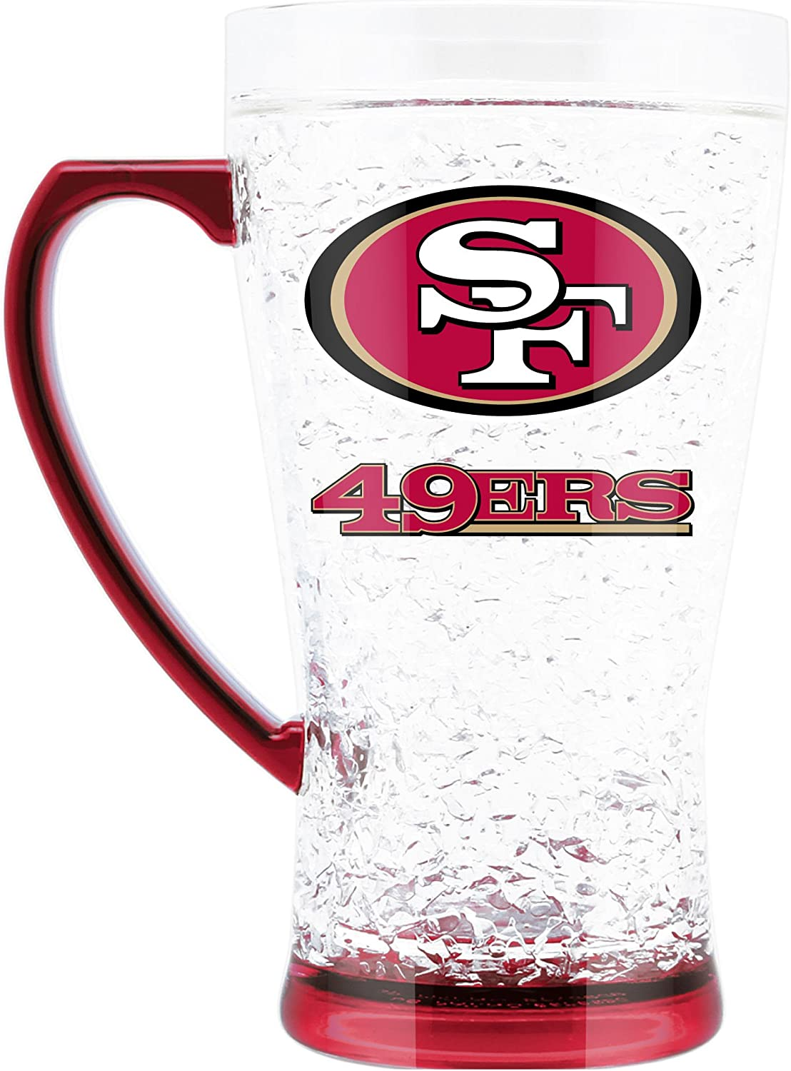 Duck House NFL San Francisco 49Ers 16oz Crystal Freezer Flared Mug, White