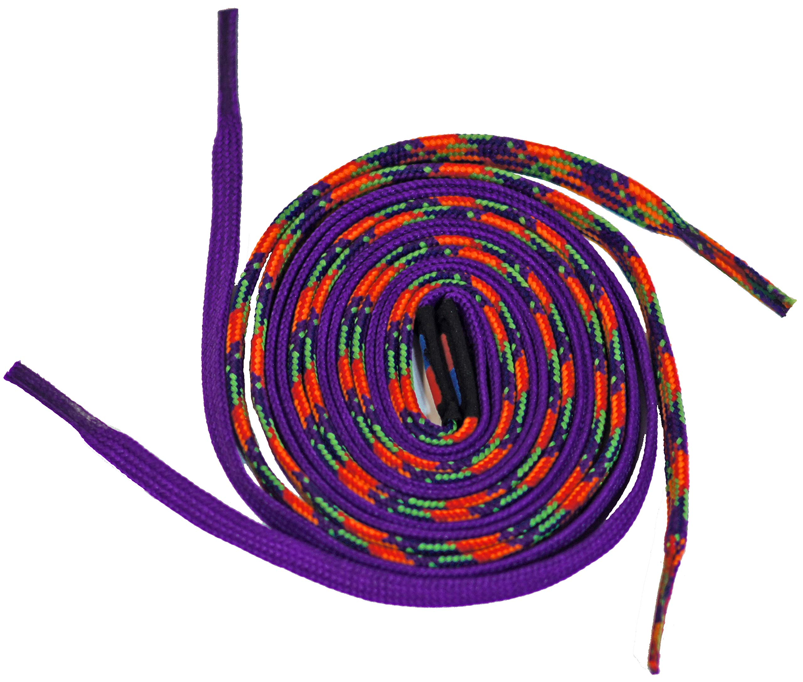 Easy Tie Shoelaces Purple/Rainbow 37'' - 94cm