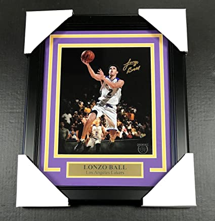 abc7bb7983d Autographed Lonzo Ball Photo - 8x10 Framed Panini Vip - Panini Certified - Autographed  NBA Photos