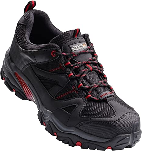 Professional Men/'s Riverbeck Steel Toe Cap Safety Trainers Black