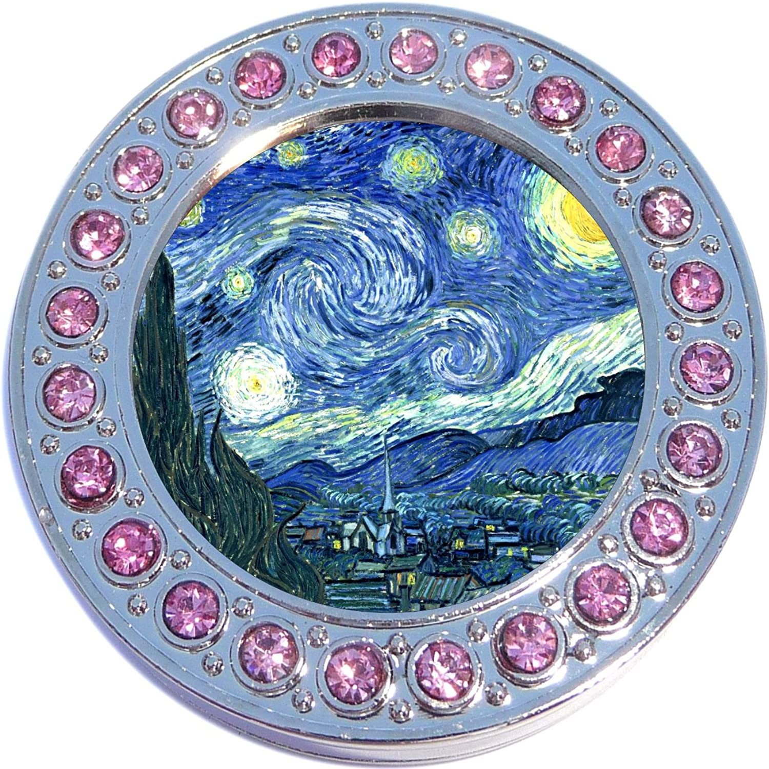 Pink Accent Starry Night Photo Purse Hanger Handbag Table Hook