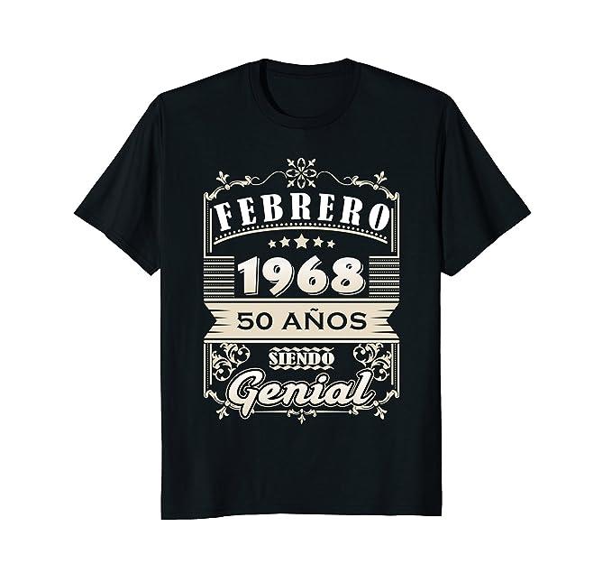 Mens Febrero 1968 50 Anos Siendo Genial 50th Birthday Spanish 2XL Black