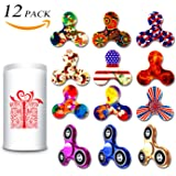 Fidget Spinner 12 Pack, EDC Hand Tri-Spinner Fidget Stress Relief Toys for Adults and Kids, All-in-one Design 2-3 Min Spins,Relieves your ADD ADHD Autism