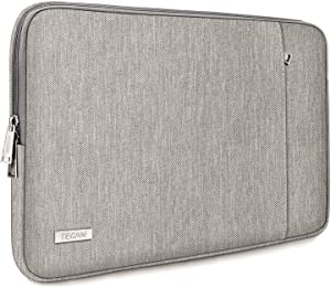 "TECOOL Protective Laptop Sleeve Case w/Front Pocket for 13.3"" Laptops & 14"" Ultra-Slim Lenovo Yoga C740/Flex 5, ASUS ZenBook 14/VivoBook S14, 13.5"" Surface Book 3 2, 14"" HP Pavilion x360, Grey"