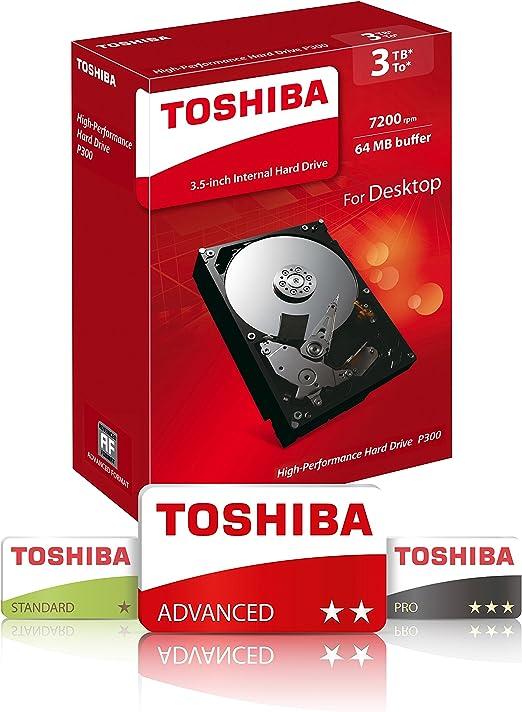 Toshiba Hdwd130ezsta P300 3 Tb Internal Hard Drive 8 9 Computers Accessories