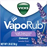 Vicks VapoRub Lavender Scented Chest Rub Ointment, 1.76 oz - Relief from Cough, Cold, Aches, and Pains, with Original…