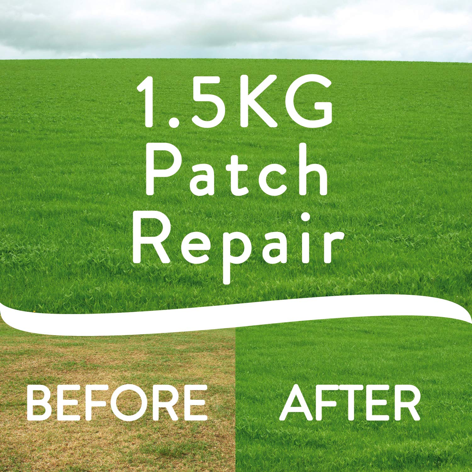 Ultra patch lawn repair grass seed 1. 5kg natural fast growing, dog.