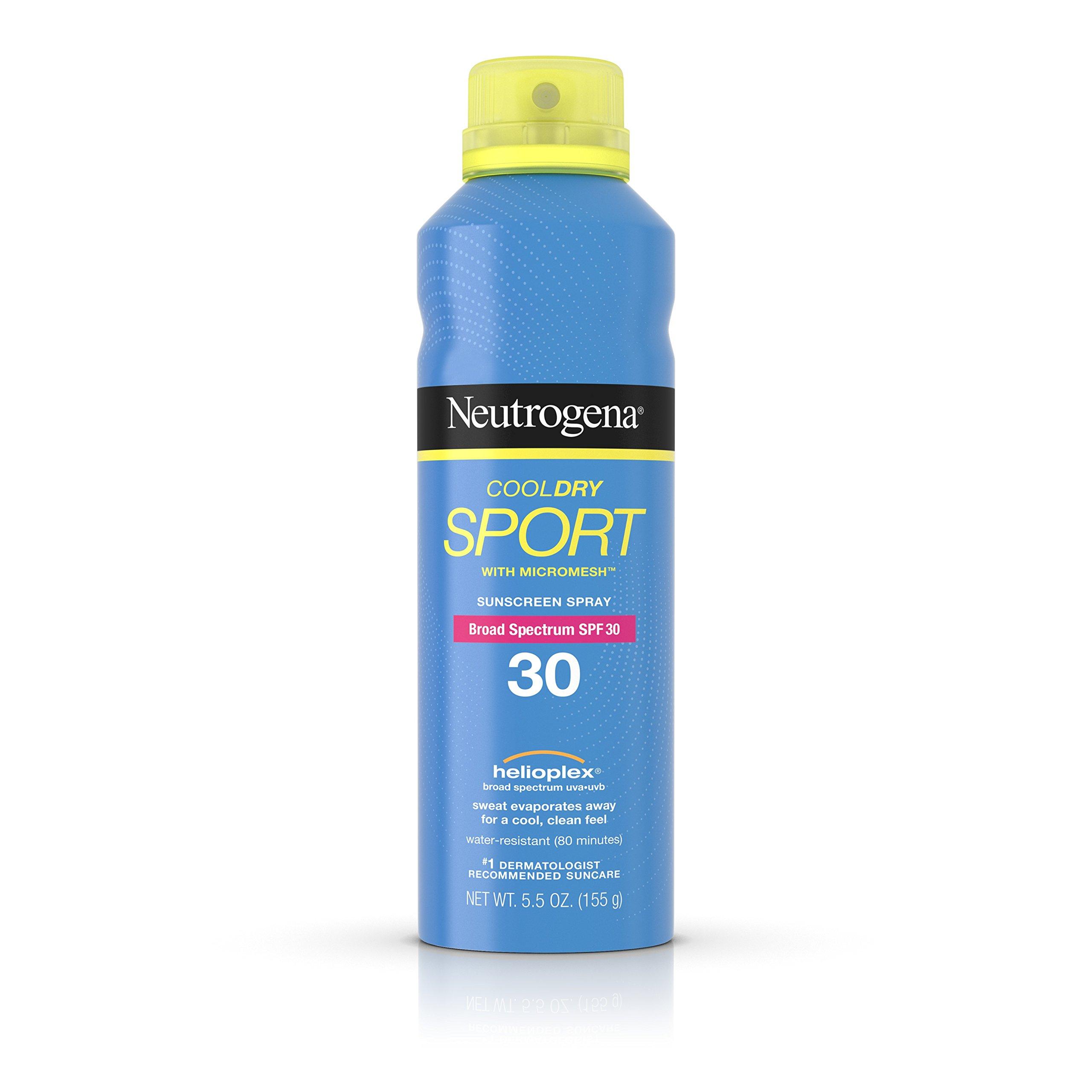 Neutrogena Cooldry Sport Spray Broad Spectrum SPF 30, 5.5 Oz