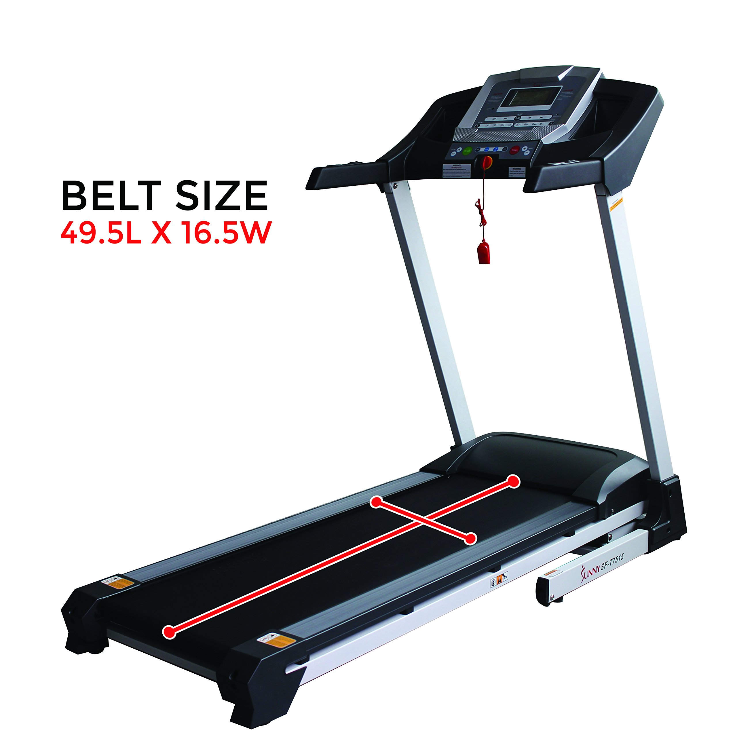 Sunny Health & Fitness SF-T7515 Smart Treadmill with Auto Incline, Bluetooth and BMI Calculator by Sunny Health & Fitness (Image #9)