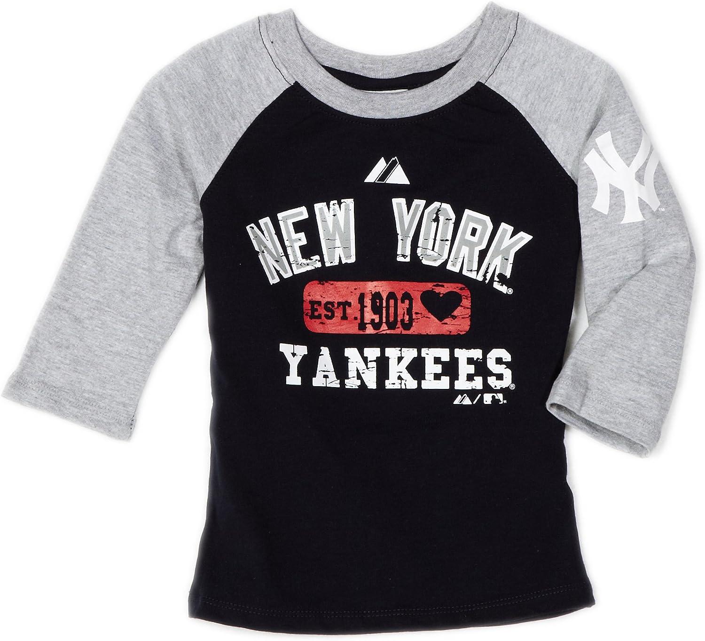 Majestic MLB New York Yankees GL béisbol T Camisa de Las niñas