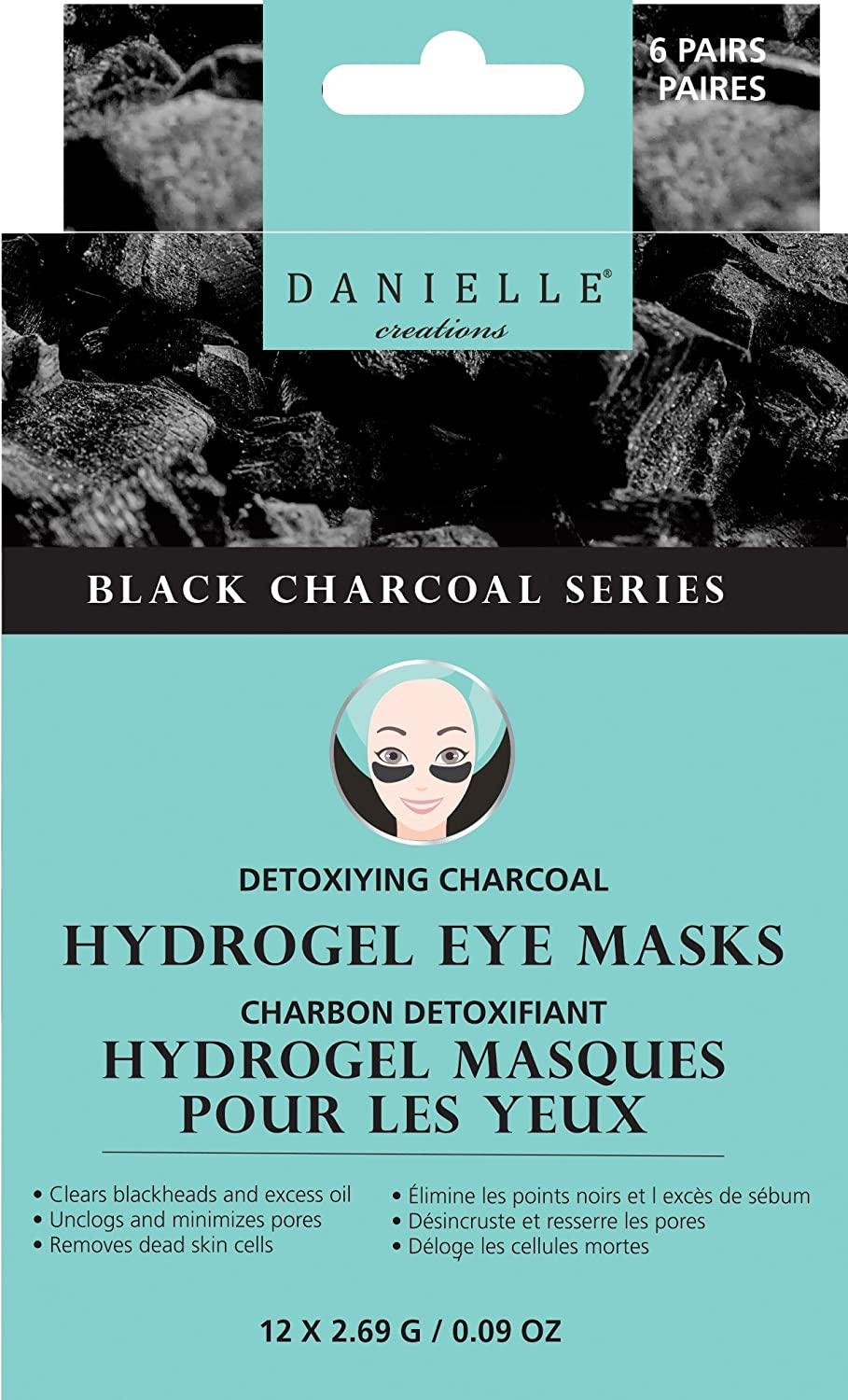 Danielle Detoxifying Charcoal Under Eye Patches - D76401