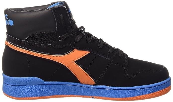 Diadora Basket 80 N - Zapatillas de Baloncesto de Piel para Hombre, Negro, 39