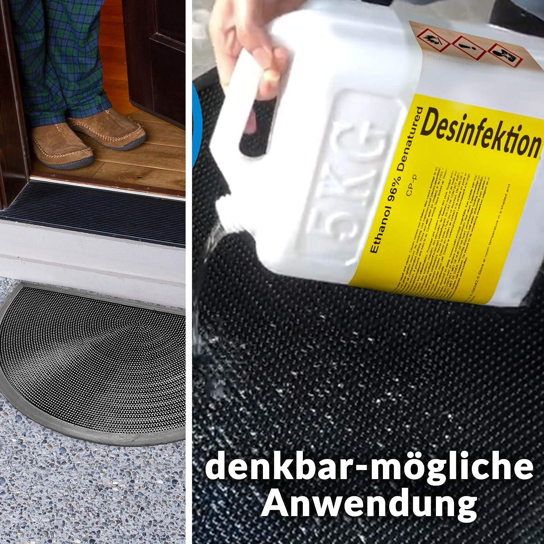 Schmutzmatte Abtropfmatte mit Gummifinger//Noppen 35x58cm ANRO Gummimatte Fu/ßmatte Gummiteppich mit Umrandung