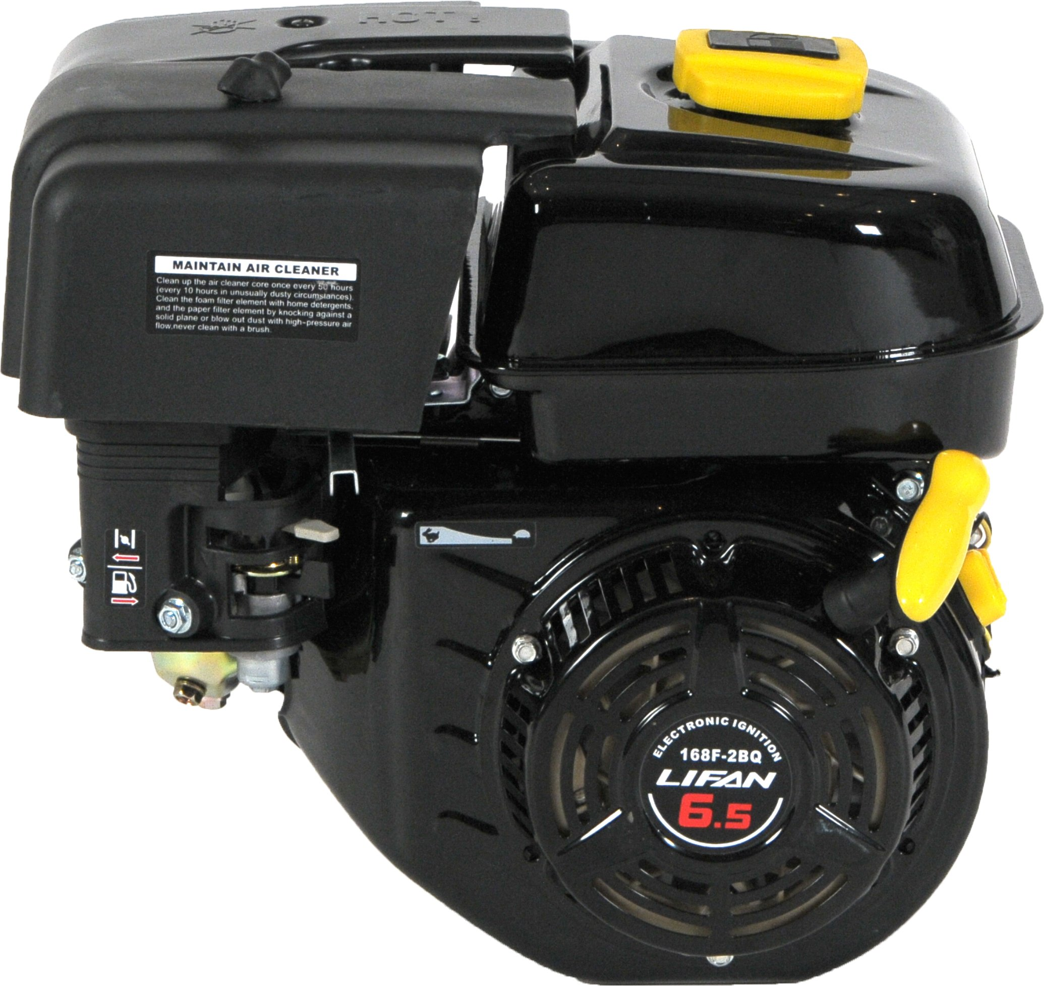 Lifan LF 168F-2BDQ 6-1/2 HP 196cc 4-Stroke OHV Industrial Grade Gas Engine with Eletric Start and Universal Mounting Pattern by Lifan