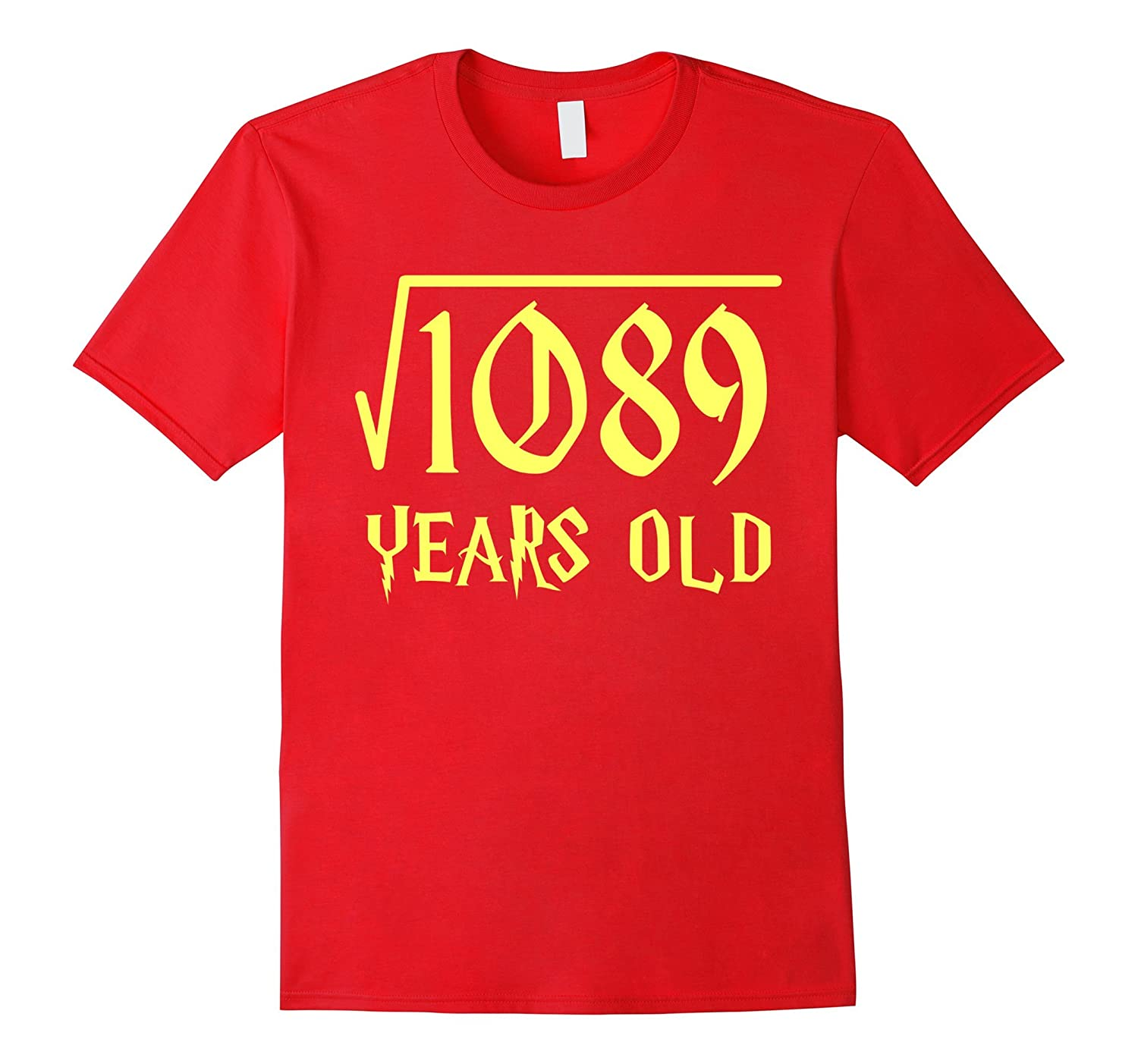 Square root of 1089 33 years old 33rd birthday t shirt cl for Square root of 1089