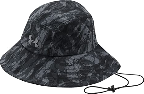 5c930a7be26 Under Armour Men`s Fish Hook ArmourVent Bucket Hat (Black Graphite Tin