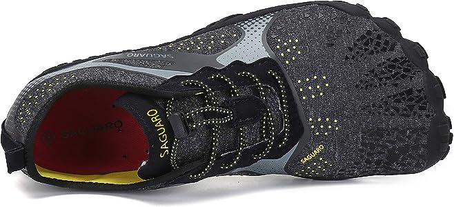 Indoor /& Outdoor SAGUARO Unisexe Chaussures Minimaliste Fitness Jogging Chaussures de Multisports Gym Trail Randonn/ée