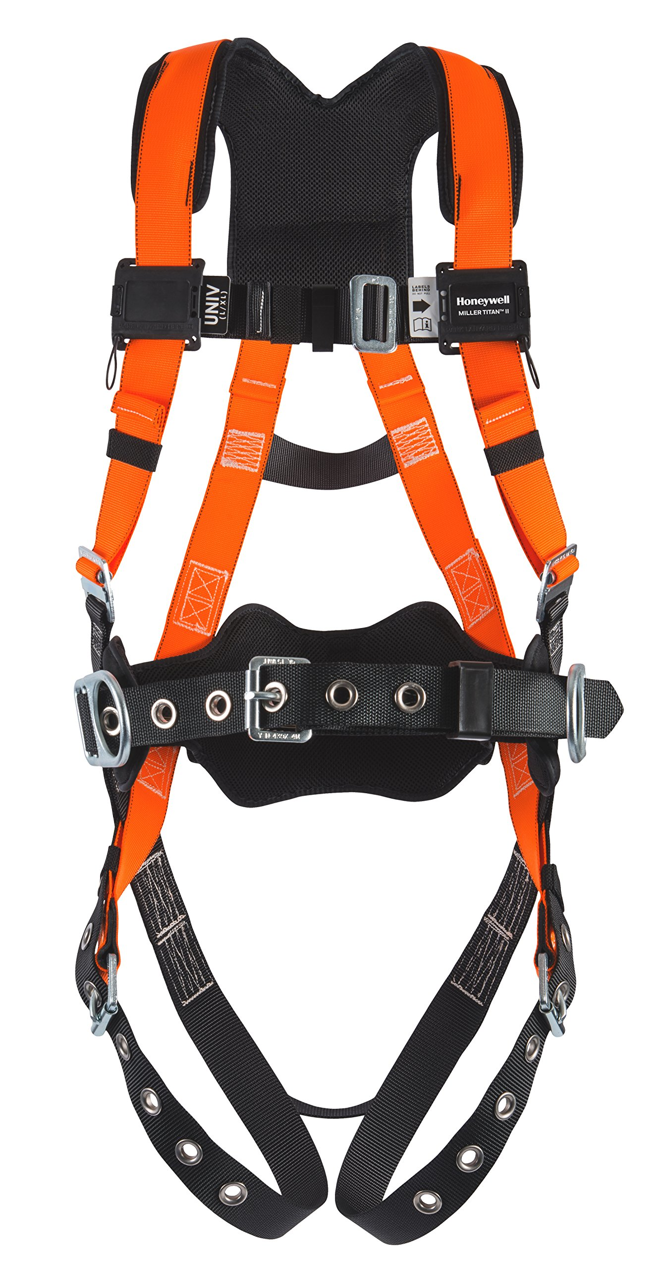 Miller Titan by Honeywell T4577/UAK Titan Contractor Harness with Non-Stretch Webbing, Universal