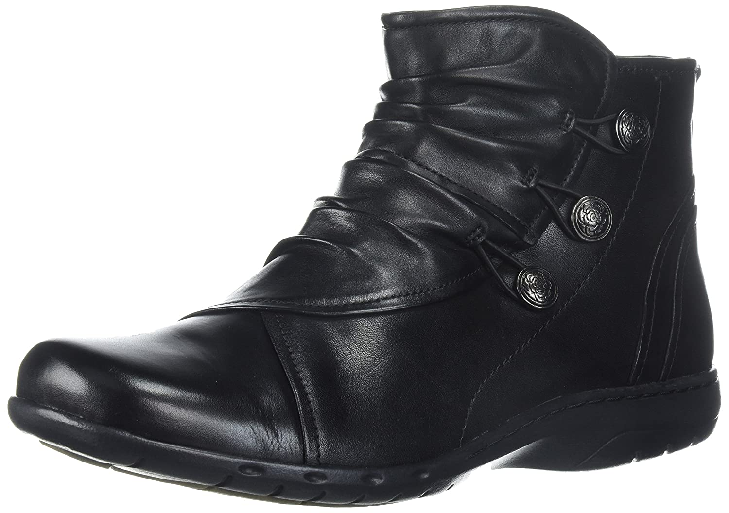 Cobb Hill Women's Penfield Boot B01N7VY316 8 W US Black Leather