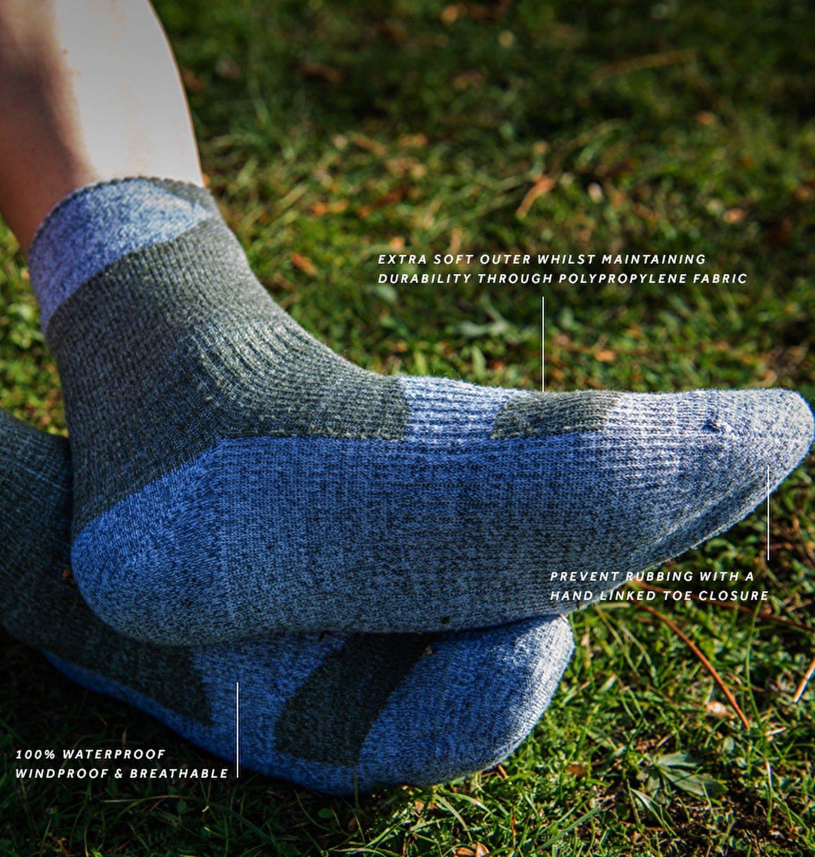 SEALSKINZ Unisex Waterproof All Weather Ankle Length Sock