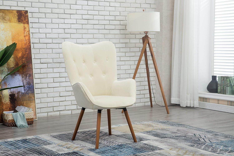 Awesome Amazon Com Roundhill Furniture Ac155Wh Doarnin Silky Velvet Inzonedesignstudio Interior Chair Design Inzonedesignstudiocom