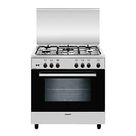 Glem A855GI Libera installazione Piano cottura a gas A Acciaio inossidabile  cucina