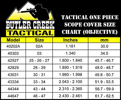 Amazon com butler creek tactical one piece objective scope cover