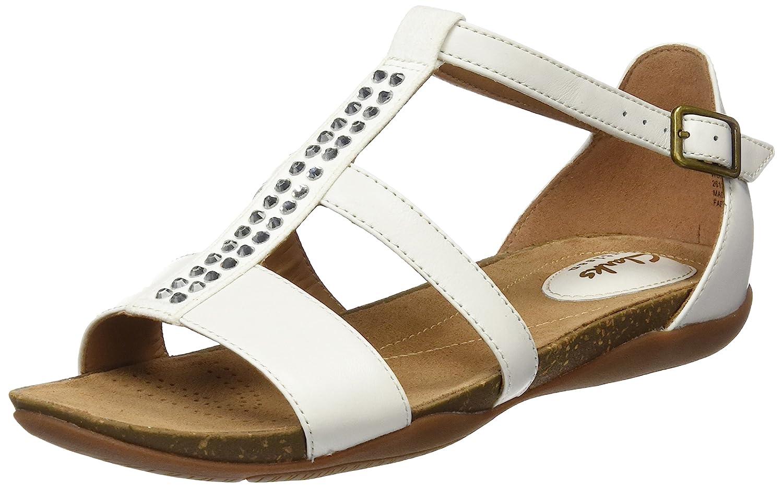 Weiß (Weiß Combi Lea) Clarks Damen Autumn Fresh Sandalen