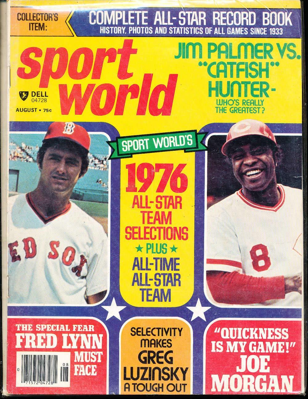 Aug 1970 Dell Sport World Fred Lynn Joe Morgan Magazine BBMag11 at
