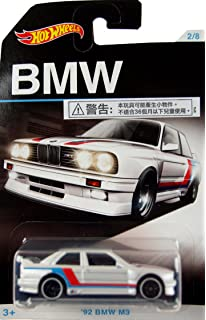 HOT WHEELS EXCLUSIVE BMW SERIES WHITE 92 BMW M3 ...