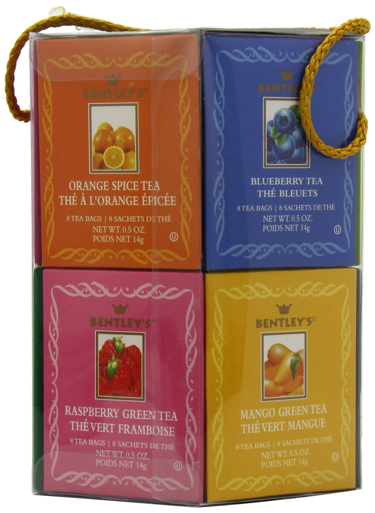 Bentley's Royal Classic Collection Assorted Flavor Gift Pack, 96 Tea Bags (Pack of 2), Includes 8 Bags Each of a Variety of Black and Green Tea Flavors by Bentley's (Image #1)