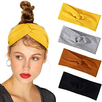 Girl's Accessories Girl's Hair Accessories Women Plain Knitted Cross Headband Turban Girls Fashion Twisted Two Layers Elastic Fabric Hairband Hair Accessories Headwrap Large Assortment