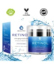 Crema Hidratante con Retinol para Día y Noche por- Crema Antiarrugas, retinol 2,5 %, ácido hialurónico, vitamina E,Hidratante de Rostro y Crema Facial,Adecuado para hombres y mujeres,50ml