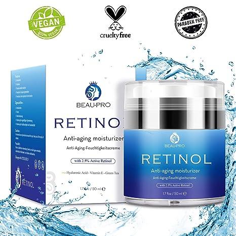Crema Hidratante con Retinol para Día y Noche por- Crema Antiarrugas, retinol 2,