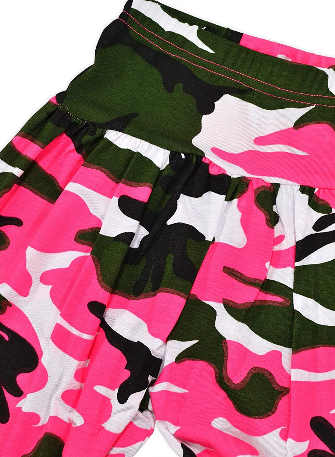 Machine Washable Casual jolly rascals Girls Dance Pants in Neon Green Viscose Camouflage