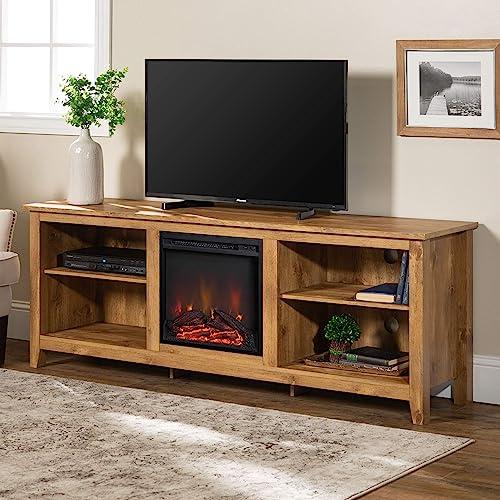 Walker Edison Wood 70″ Fireplace Console