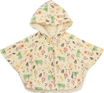 COTTON FAIRY Baby Girls Hoodie Cape Coat Printed Cloak Winter Outfits