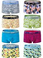 SHENGRUI JINSHI Men's Stretch Boxer Briefs Soft Bamboo Underwear Pack