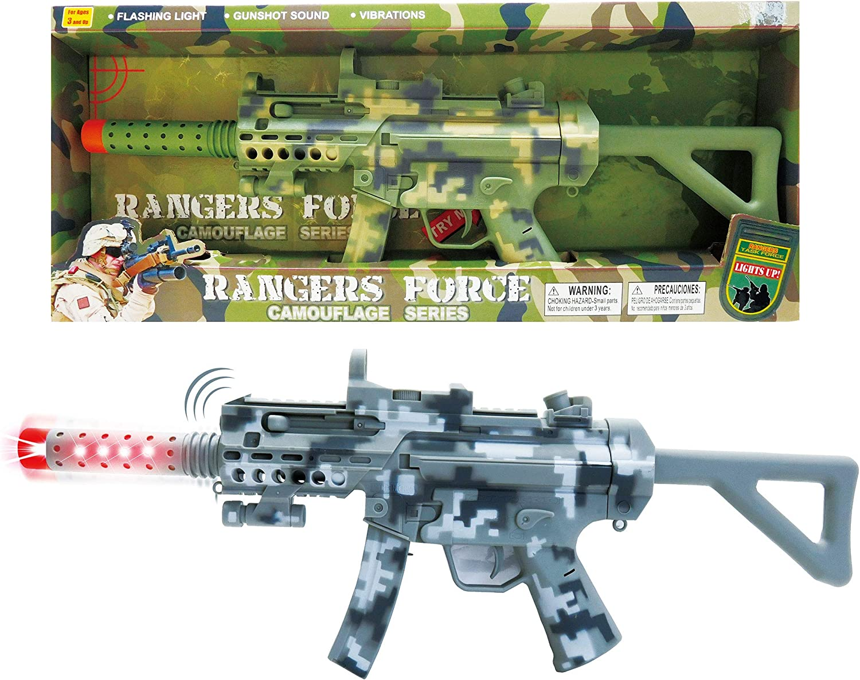 22 inch Light-up Rifle with Bayonet Blaster Gun Boys Kids Children Action Toys