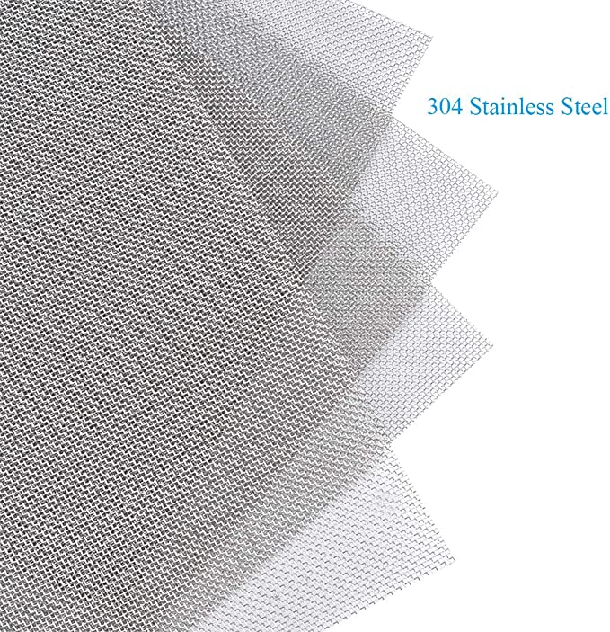 ,Hard and Heat Resisting Screen Metal Mesh Sheet,1mm Hole 20 Mesh Easy to Cut 300X 210mm FAYERXL 5PACK Stainless Woven Wire Mesh,Air Vent Mesh 11.8X8.2