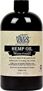 Daddy Van's All Natural Hemp Oil Food Safe Wood Finish and Restorer (16 oz.)