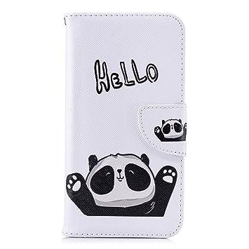 Lomogo Funda [Xiaomi Mi A2 Lite], Funda de Cuero con Cartera ...