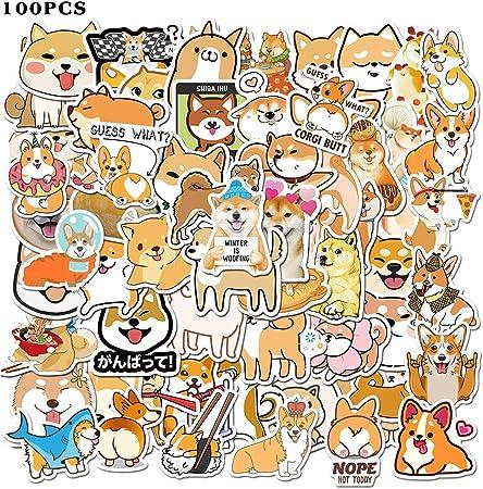 Cute Corgi Dog Vinyl Weatherproof Sticker