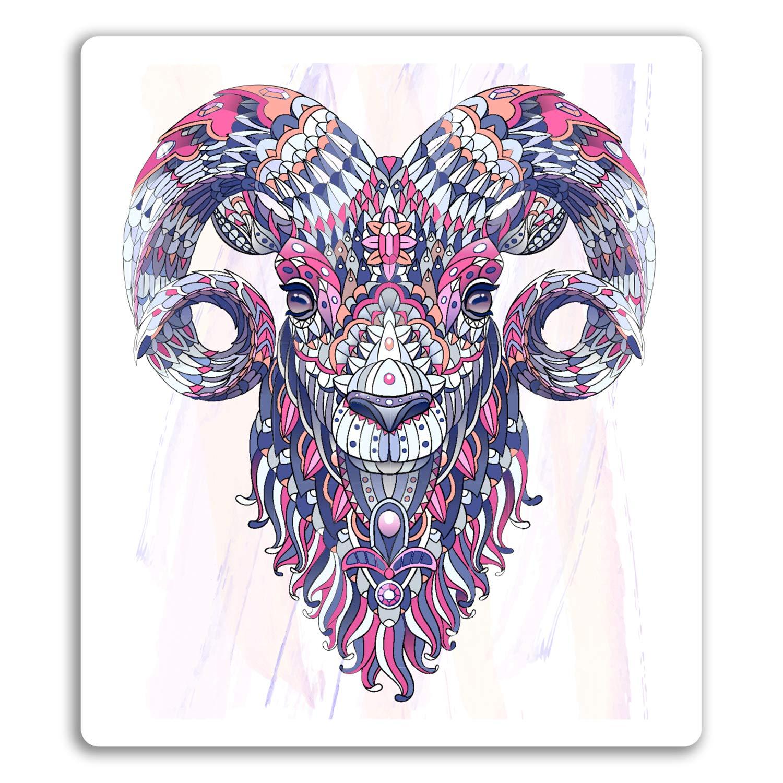 2 x 10 cm tribal cabra pegatinas de vinilo - RAM de las ovejas ...