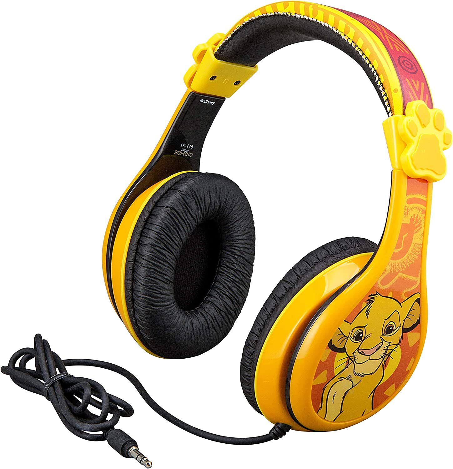 Kids Headphones for Kids Lion King Adjustable Stereo Tangle-Free 3.5mm Jack Wired Cord Over Ear Headset for Children Parental Volume Control Kid Friendly Safe Perfect for School Home Travel