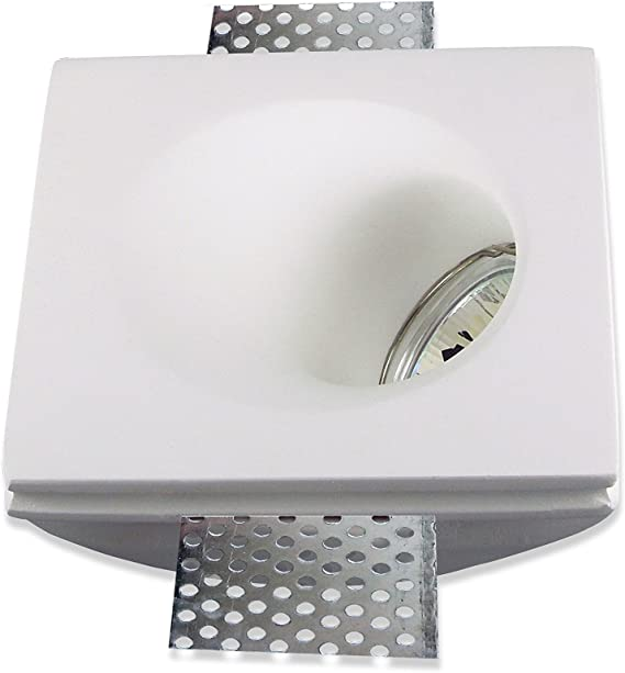 Spot Encastrable Carre Incline A 45 En Platre Resine Pour Eclairage De Courtoisie Douille D Ampoule Gu10 Ou Gu5 3 Modele 2021 Amazon Fr Luminaires Et Eclairage